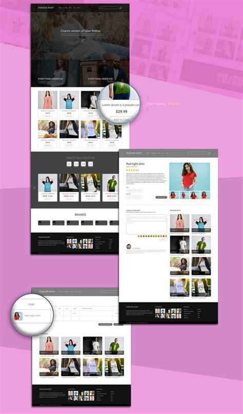 Fashion E Commerce Website Template Xdguru Com Free Xd Templates