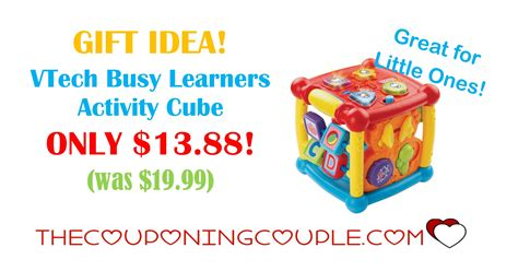 v tech activity gift idea vtech busy learners activity cube only 13 88