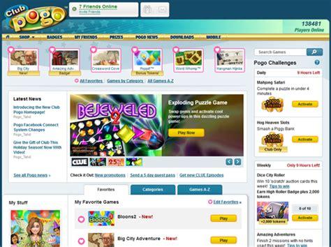 Clubpogo Home by New Club Pogo Home Page