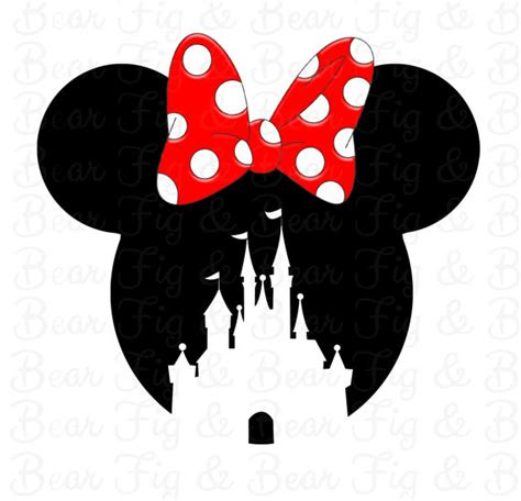printable iron on silhouette disney minnie mouse castle shirt iron on transfer for girls