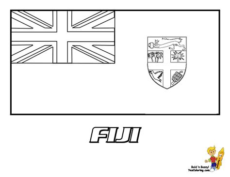 Fiji Flag Coloring Page distinguished flag pictures coloring nations falkland