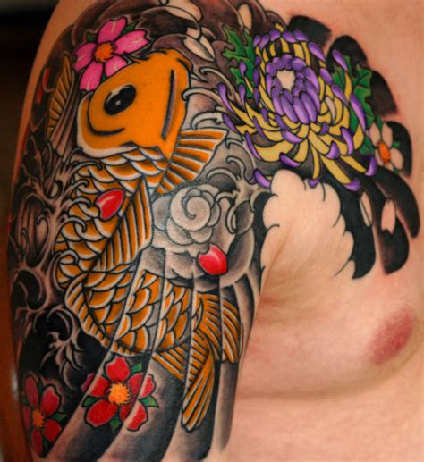 tattooed asian japanese designs combine