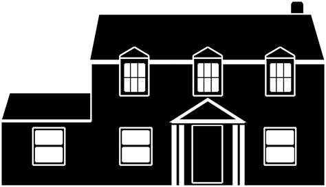 black and white home clipart black and white house