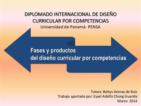 Diseño Curricular Por Competencias Slideshare Fases Y Productos Dise 241 O Curricular Por Competencias