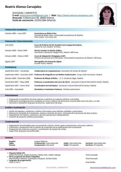 resumes en espanol free resume templates