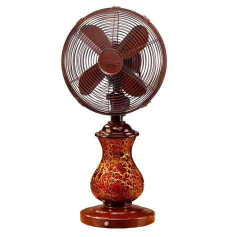 deco table fans deco 10 in rustic crackle table fan dbf0672 the