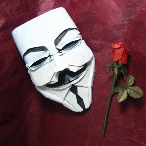 Origami Fawkes Mask - fawkes mask v s mask