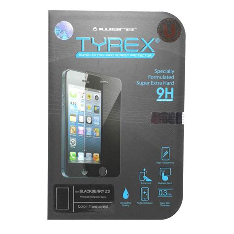 Hk Tempered Glass For Blackberry Z3 tyrex blackberry z3 tempered glass screen protector elevenia