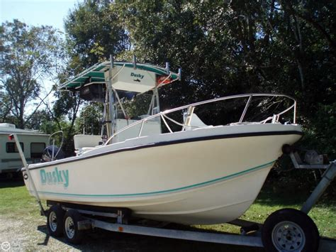 center console boats for sale 1994 used dusky marine 227 center console fishing boat for