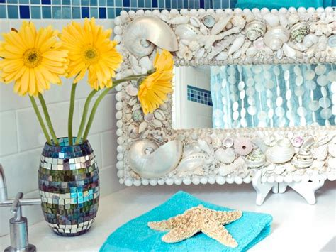 seashell bathroom ideas seashell bathroom decor ideas pictures tips from hgtv