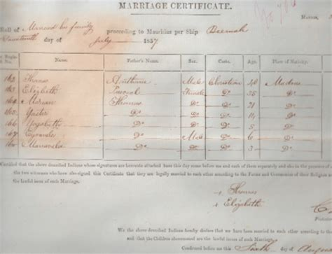 Mauritius Marriage Records Dharmalan An Australian Aboriginal S 73 Year