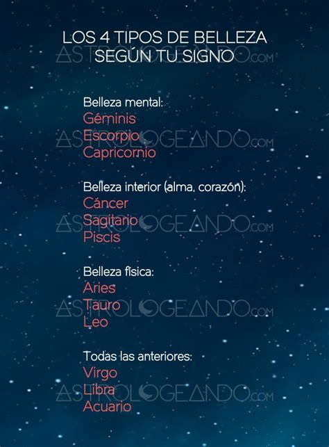 imagenes oscuras de los signos zodiacales los 4 tipos de belleza seg 250 n tu signo signos tipos de y