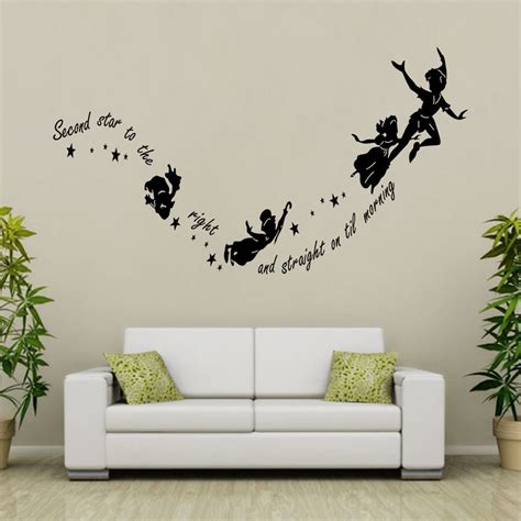 room decor wall stickers tinkerbell pan removable wall decal vinyl sticker mural room decor ebay