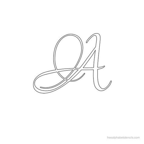 fancy letter templates calligraphy alphabet stencil a free available