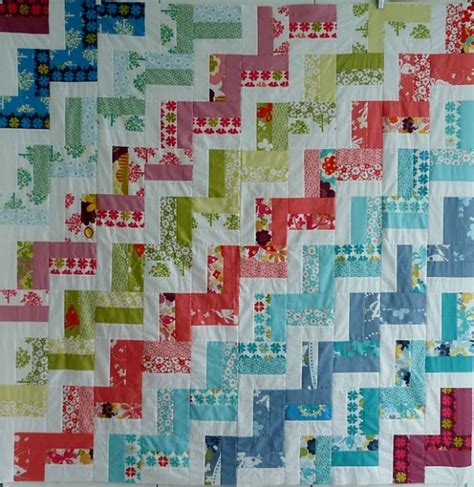 Chevron Quilt Pattern Using Jelly Roll by Zig Zag Jelly Roll Quilt