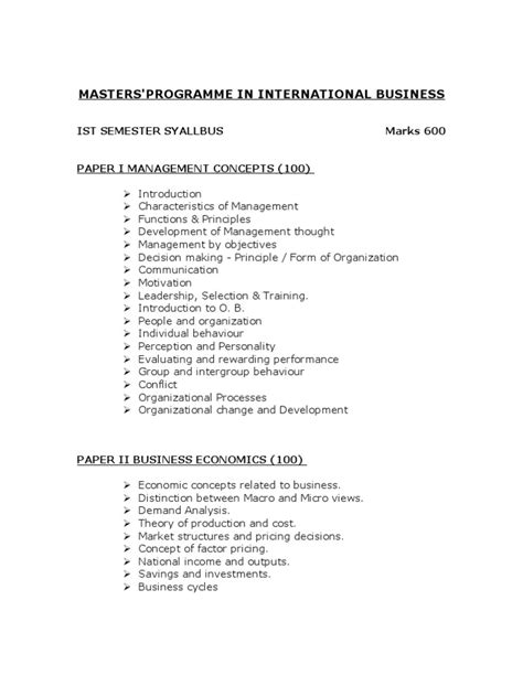 Mba In Import Export by Mba Export Import Strategic Management