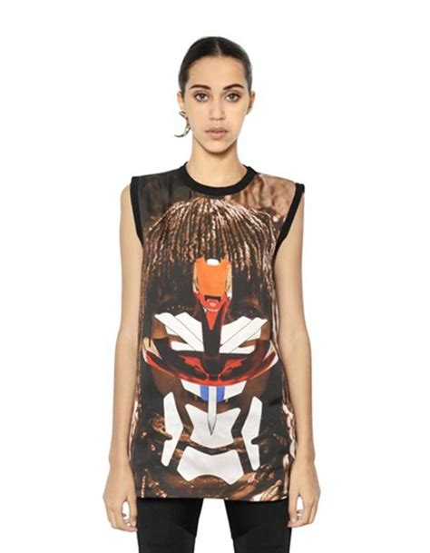 givenchy ss 14 tribal and robot print silk top sz xs rt