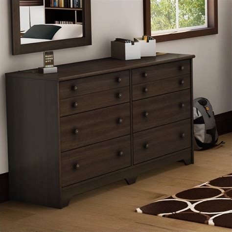 Shaker Style Drawers by South Shore Newton 6 Drawer Shaker Style Moka Finish
