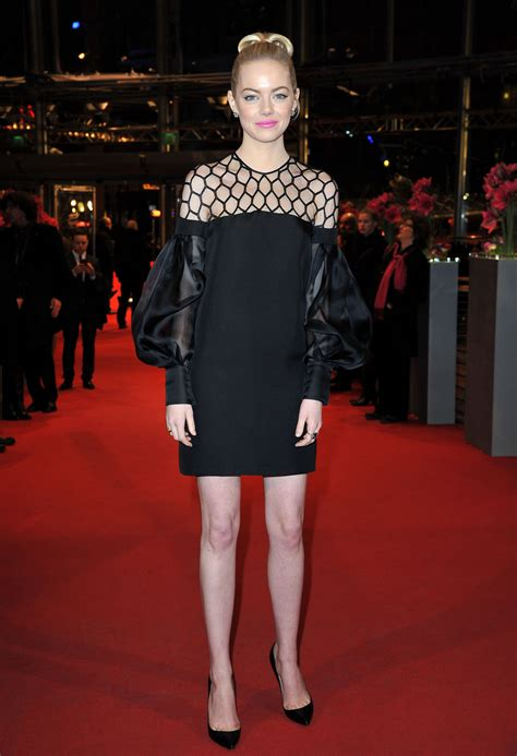 emma stone red carpet dresses emma stone hit the red carpet in a black gucci dress