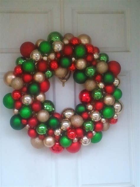 christmas ball wreath christmas pinterest
