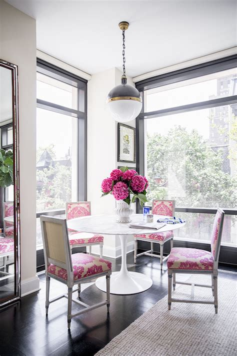 pink dining chairs contemporary dining room domino magazine