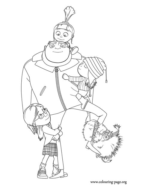 Gru Coloring Page free coloring pages of gru logo