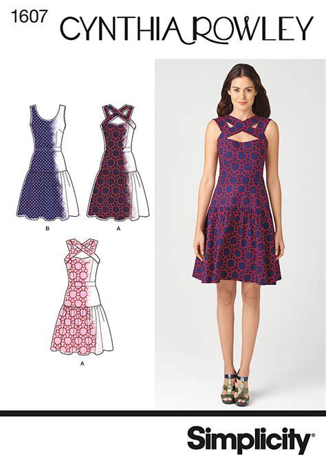 dress pattern latest simplicity 1607 misses dress