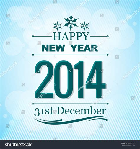 creative happy new year 2014 creative happy new year 2014 greeting wishes stock vector