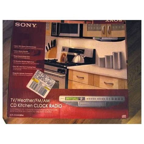 sony cabinet tv sony tv weather am fm cd silver kitchen clock