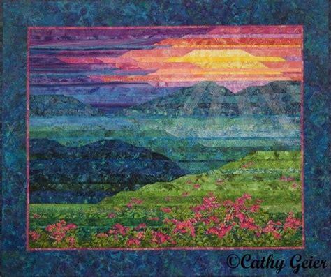 135 Best Images About Quilts Landscape Applique On Pinterest Landscape Quilt Patterns