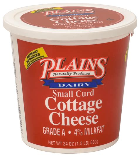 cottage cheese curd small curd cottage cheese plains dairyplains dairy