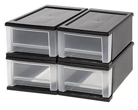 iris small stacking drawer iris 6 piece desktop stacking drawer small black clear