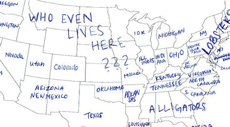 map of us without labels in tried to label the 50 us states on a map
