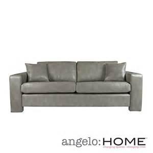 angelo home angelo vintage dove grey renu leather sofa by handy living