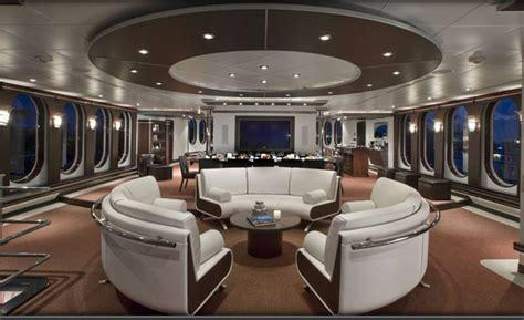 Mega Yacht Interior by Inside Mega Yachts Sky Lounge Allurre Shadow Yacht