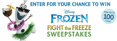 Disney Hawaiian Sweepstakes - disney frozen fight the freeze sweepstakes win a trip to hawaii sweepstakes in