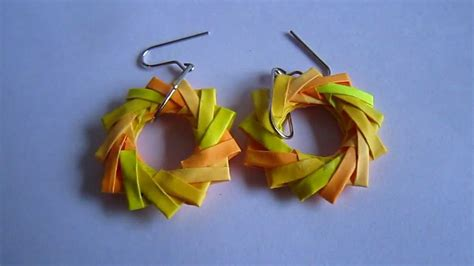 Paper Earrings Handmade Paper Jewellery - paper jewelry handmade origami wreath earrings
