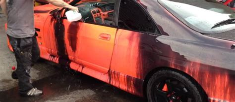amazing heat sensitive car paint thermochromics car paint r33 skyline heat sensitive paint tuned