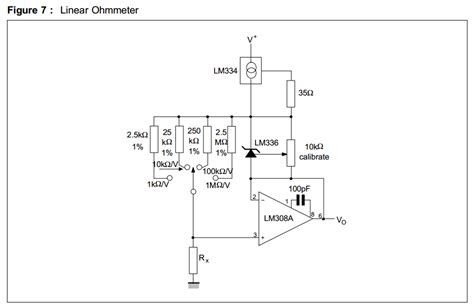 infinite resistor circuit help with an ohmmeter reference design