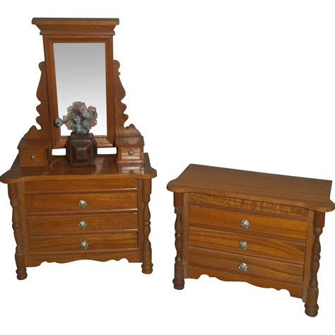 two pieces of german schneegas bedroom furniture c 1900