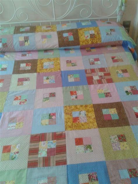 Square Patchwork Quilt - colcha de patchwork patcwork patchwork
