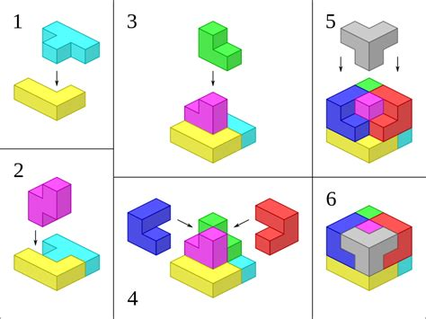 Soma Cube Origami - file soma cube solution svg