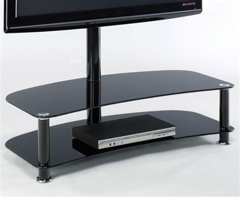 medina black glass tv stand