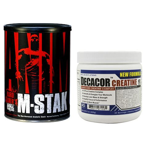 m stak supplement animal m stak 21pk with decacor pre workout