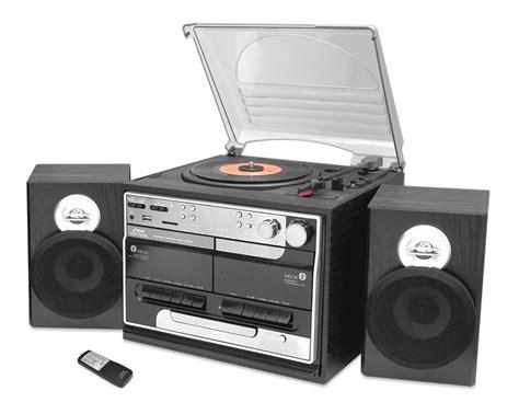cassette cd radio player pyle pttcsm60 turntable stereo cd radio cassette ipod mp3