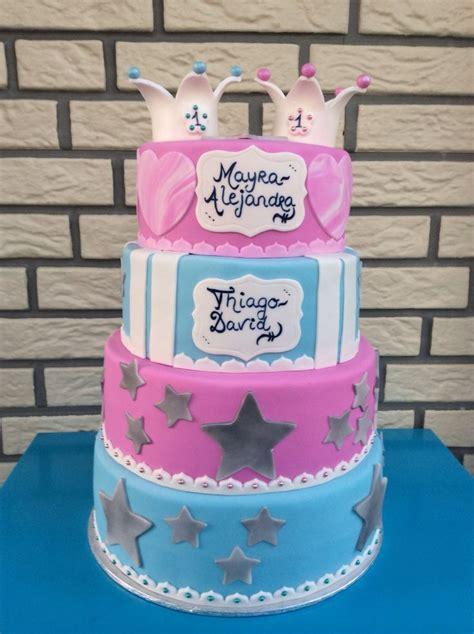 birthday cake twins boy  girl cake ideas   twins pinterest boys boys