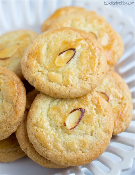 new year almond biscuits new year almond cookies table for two