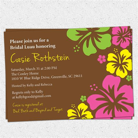 Others Custom Luau Invitations For Your Tropical Getaway Foamthai Com Luau Invitations Templates Free