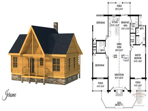 Small Log Cabin House Plans | small log cabin home house plans small log cabin floor