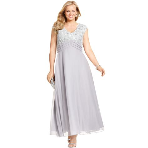 patra dress sleeve beaded sequin patra capsleeve sequinlace gown in silver lyst